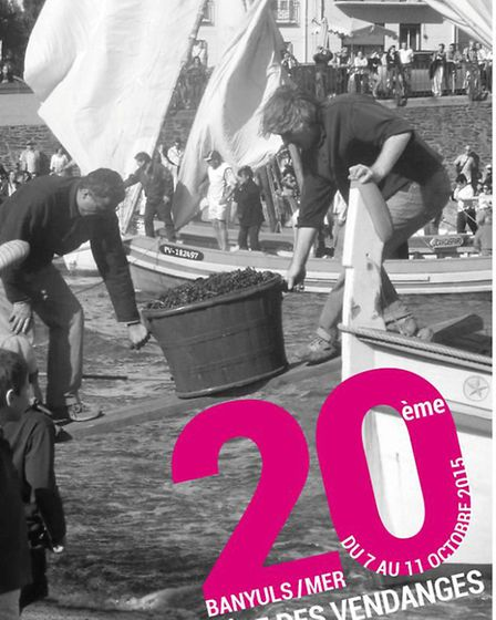 A poster advertising the grape harvest in Banyuls-sur-Mer