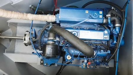 42hp engine is usually found on longer boats