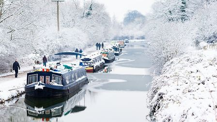 Boats along the Kennet & Avon canal