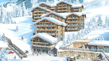 The proposed new development Les Balcons des Etoilés in the heart of beautiful Champagny en Vanoise