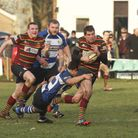 Norwich's Neil Dunleavey in action against Lowestoft & Yarmouth. Photo: Andy Micklethwaite