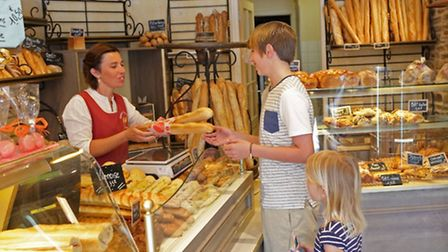 Buying baguettes © Brittany Ferries