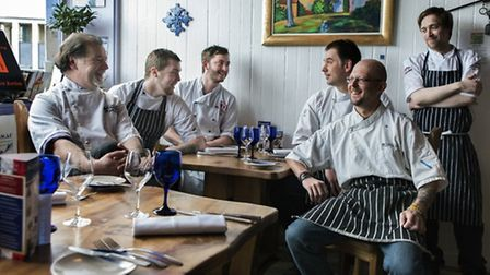 Jean-Philippe Gauffre and his team at La Garrigue restaurant ©Stephen McCluskey Photography