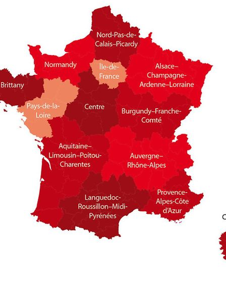 Regions of France © Archant