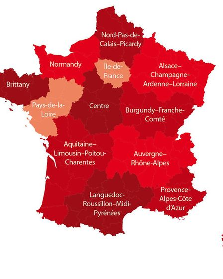 The regions of France © Archant