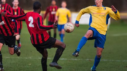 Norwich United on their way to an FA Vase third round victory over Erith Town. Photo: Bill Smith