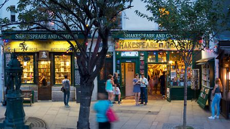 Shakespeare and Company on Paris's Left Bank is a charming old bookshop