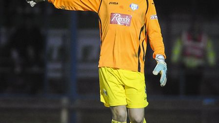 Action frol King's Lynn Town v Nantwich Town at The Walks - Stand in keeper Jason Lee. Picture: Matt