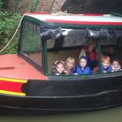 Pupils treated to free boat trip to celebrate this years Crick Boat Show PHOTO: Canal & River Trust