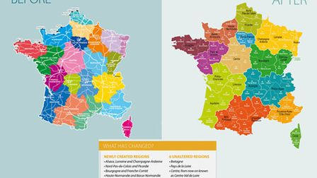 The new regions of France © Archant