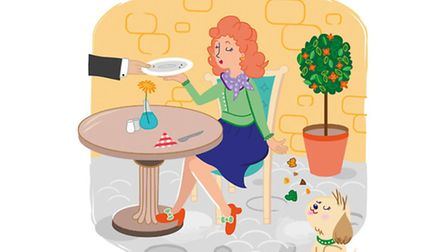 Ian Moore thinks he knows why there are so many dogs in French restaurants: to eat the leftovers