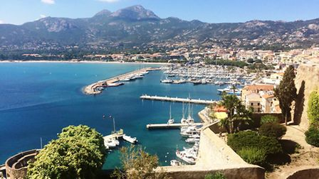 The port of Calvi from the citadel