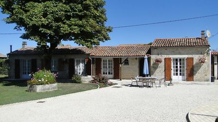 Separate gîtes provide ideal accommodation for wedding parties