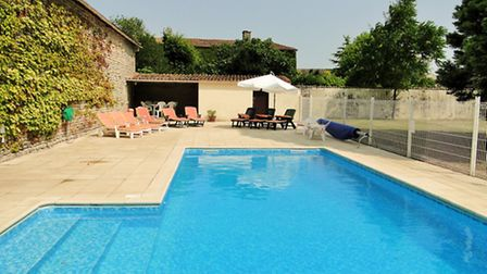 A heated swimming pool is one of many luxuries added by Clive including a Jacuzzi and sauna