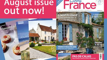 The August issue of Living France is out now!