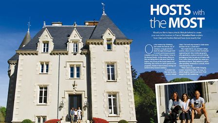 Claire and Andrew Bernard are lucky enough to call this château in Brittany home