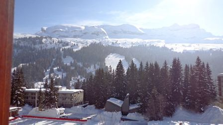 View of the Alps from the apartment