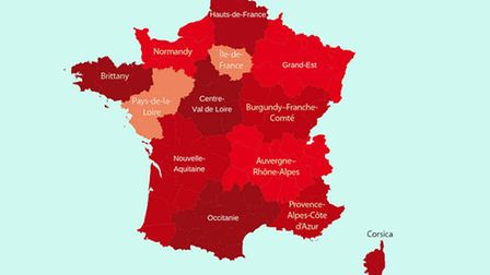 Map of France before and after the region changes © Archant