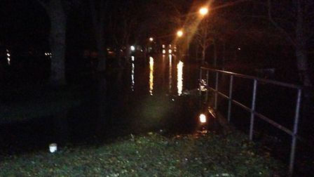 Flooding at Beccles Quay