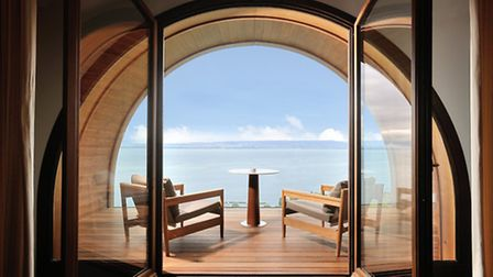 View from one of the rooms in the Royal Evian resort ©Royal Evian