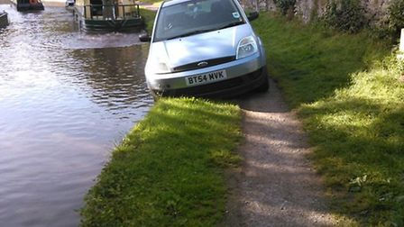 Driver takes wrong turn onto Welsh canal
