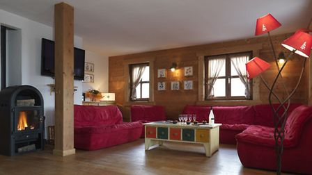 Salon at chalet for sale in Flaine with Astrid Immo
