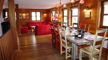 Dining room at chalet for sale in Flaine with Astrid Immo