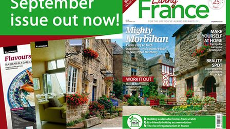 The September issue of Living France is on sale now