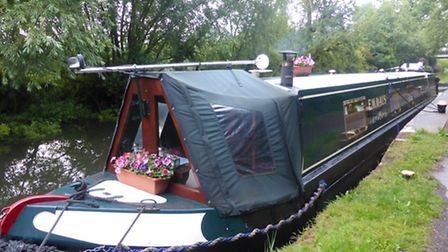 Nice and snug on our own boat