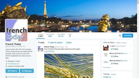French Today post a wealth of French language related messages on Twitter