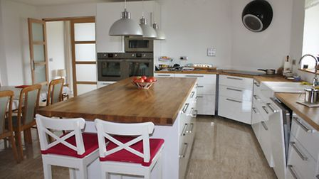 Kitchen at the eco-house in Normandy © J Turner