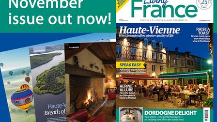 The November 2016 issue of Living France is out now