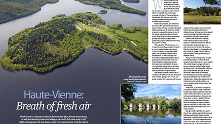 Explore the beautiful lakes and forests of Haute-Vienne in the November issue of Living France