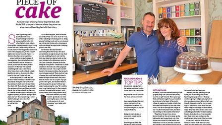 Nadia and Nick Wall in their tea room in Vienne