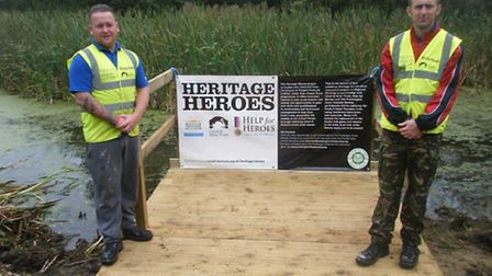 Around 60 servicemen and women are participating in Heritage Heroes projects around the country