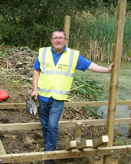 David Simpson working as part of the Heritage Heroes project