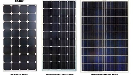The different solar cells