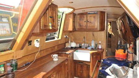 A set of side doors offer an extra way in and out of the boat