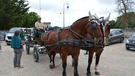 Hop onto a horse carriage for a gentle stroll, here in Saumur in the Loire Valley