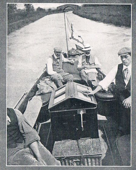 P Bonthron and friends on their motor launch