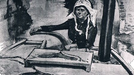 The boatwoman referred to as 'Mrs Bargee' in Two Girls and a Barge