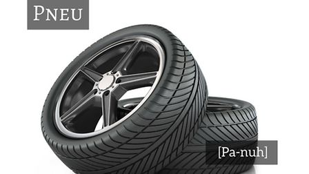 How to say tyre in French