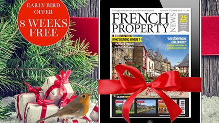 Enjoy a subscription to French Property News this Christmas