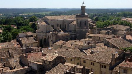 Town of Uzes in the south of France