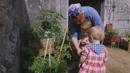 The couple's two young children, Arthur and Dorothy love life in the French countryside