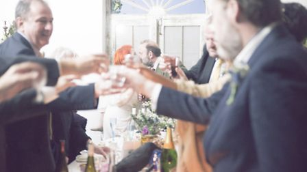 Angel and Dick held their own wedding celebrations at the château