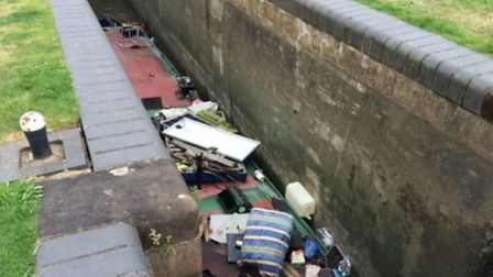Alan Green's boat got trapped in the lock