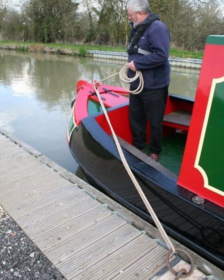 Springing off the stern, step one