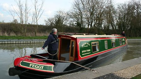 Springing off the stern, step two