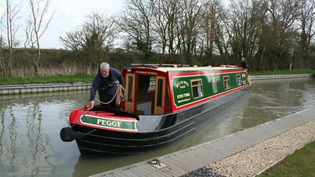Springing off the stern, job done